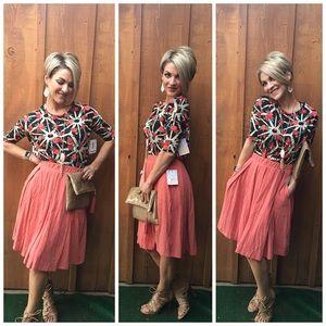 Box pleat high waisted skirt